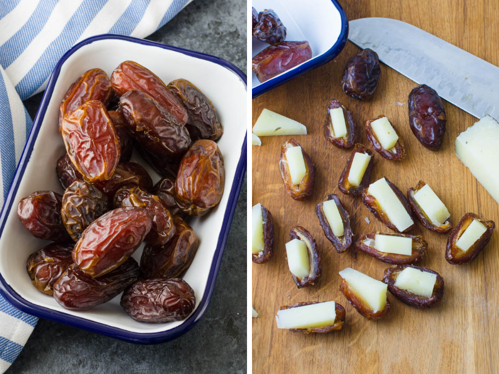 medjool dates and manchego cheese are easy tapas.