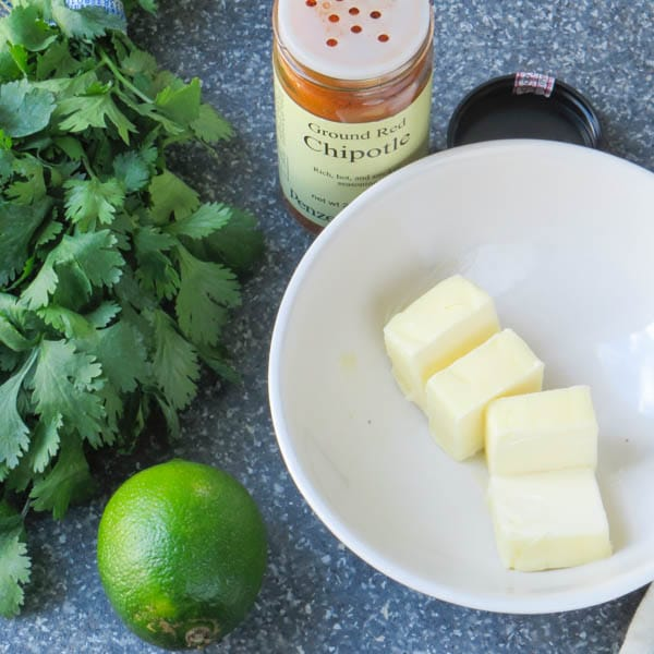 Chipotle, butter, lime and cilantro.