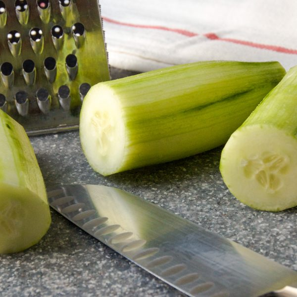 cucumbers and a knife