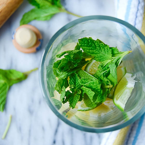 adding mint and lime