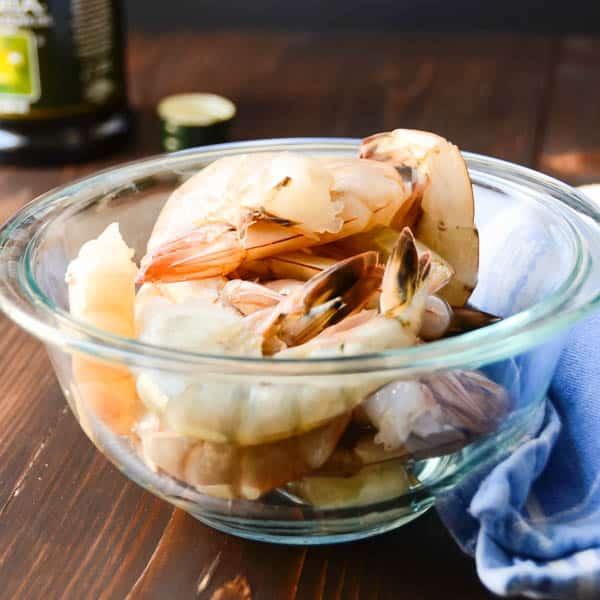 gulf shrimp in a bowl.