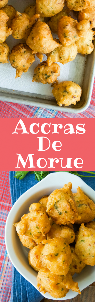 This authentic Carribbean Accras recipe is easy to make and is the best hors d'oeuvre or appetizer with cocktails.