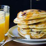 Blueberry Lemon Cornmeal Pancakes