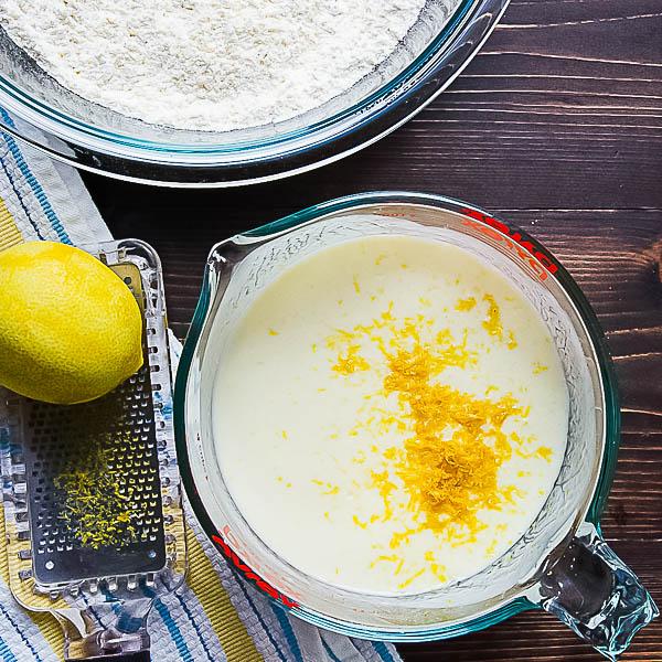 buttermilk and lemon zest