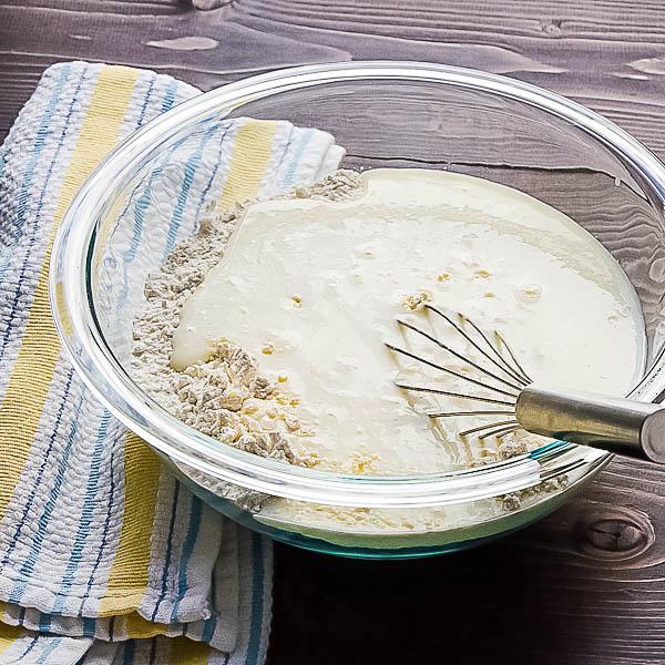 flour and buttermilk