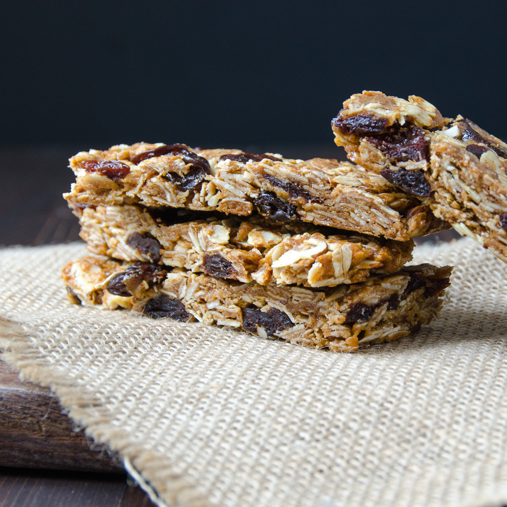 stacked Cherry Almond Granola Bars
