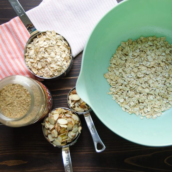 oats, almonds wheat germ
