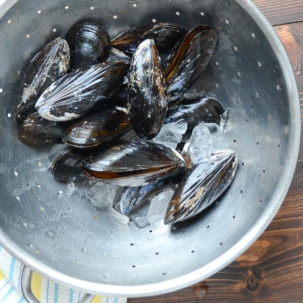 wine and garlic mussels with sausage | Garlic + Zest