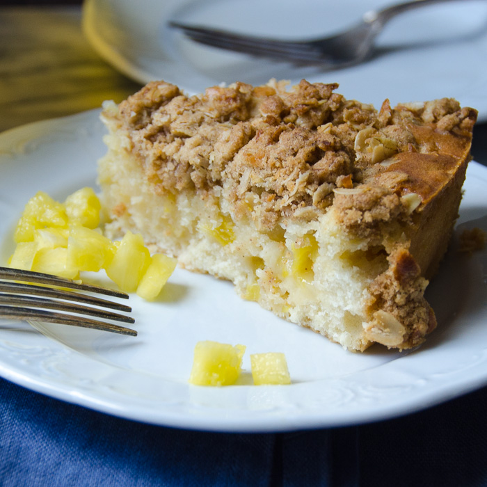 slice of Pineapple Coconut Buckle