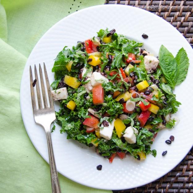 Tangy Italian Black Rice Salad