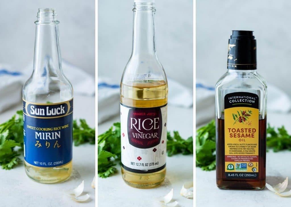 Vinegar, Mirin and Sesame Oil