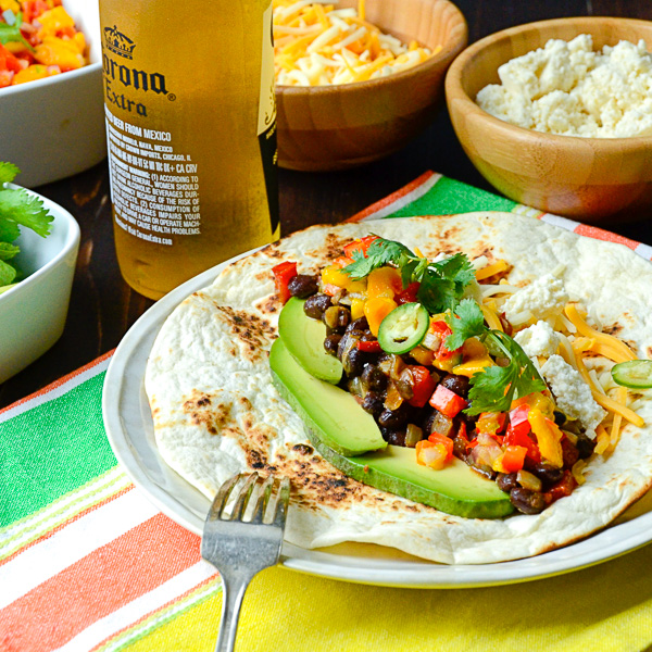 smoky black bean tacos | Garlic + Zest