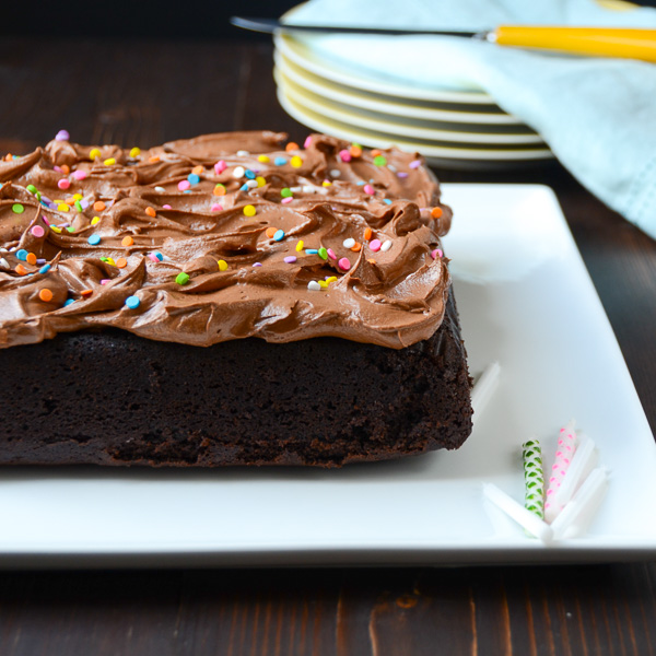 Easy Chocolate Cake with Chocolate Frosting   Garlic + Zest