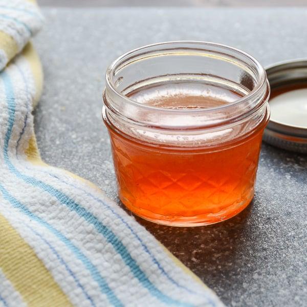 fresh peach nectar for the bourbon sour recipe.