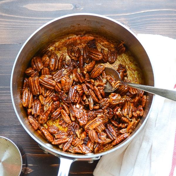 glazed spiced pecans | Garlic + Zest
