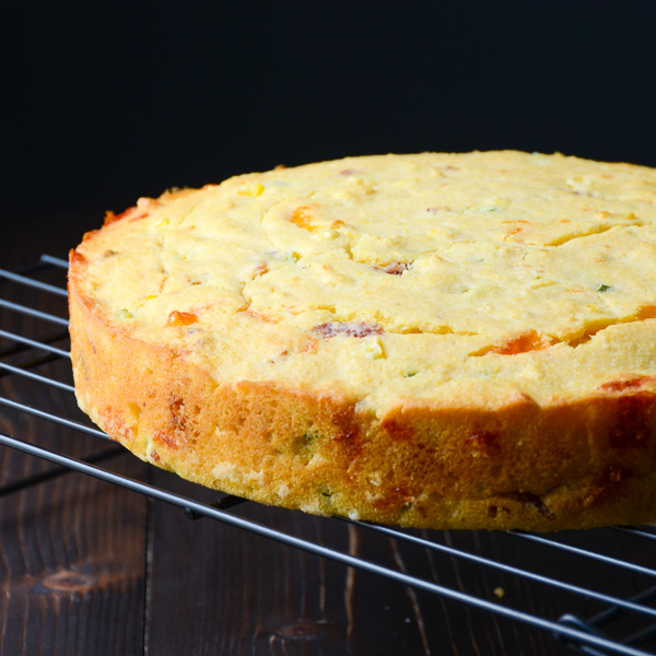 jalapeno bacon cheddar cornbread | Garlic + Zest