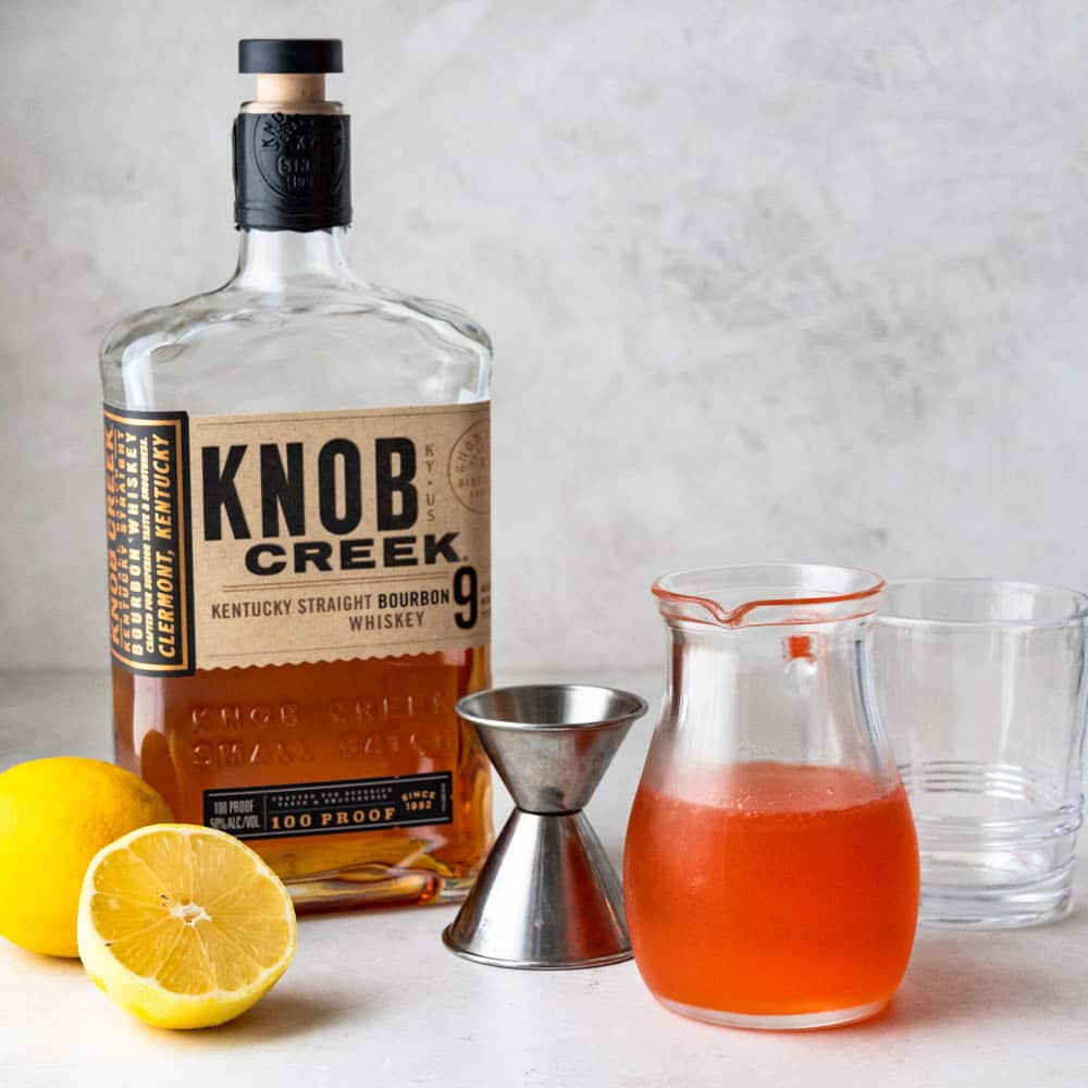 ingredients for whiskey sour