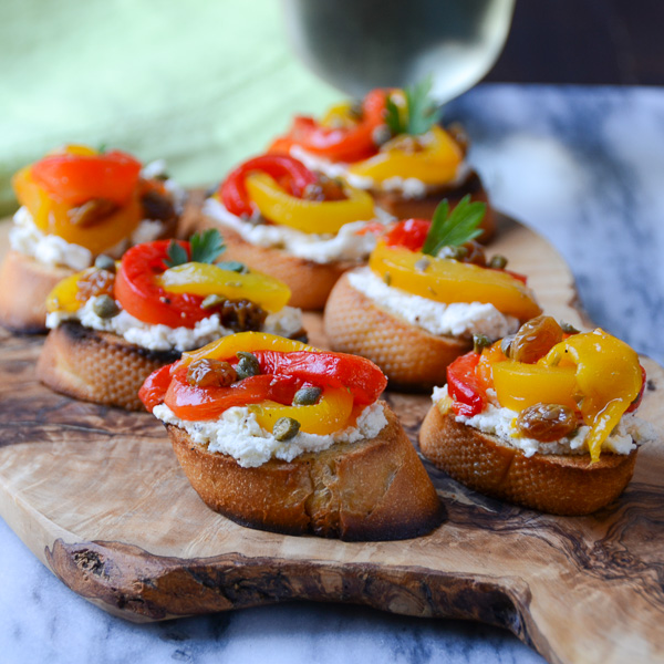 pepperonata bruschetta | Garlic + Zest