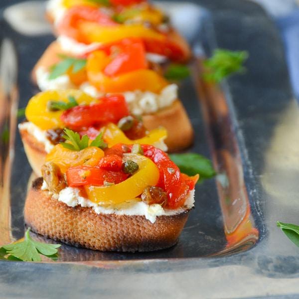 peperonata bruschetta | Garlic + Zest