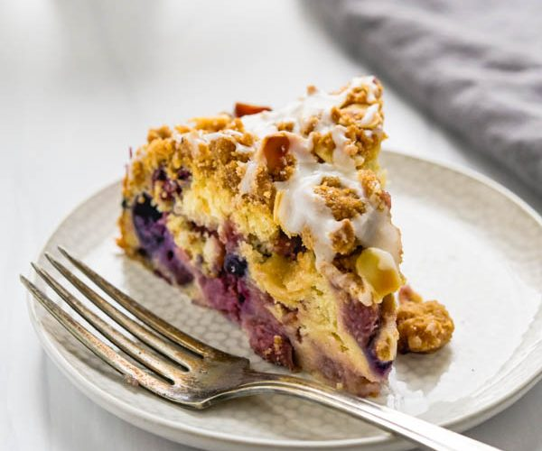 Mixed Berry Buckle Streusel Coffeecake