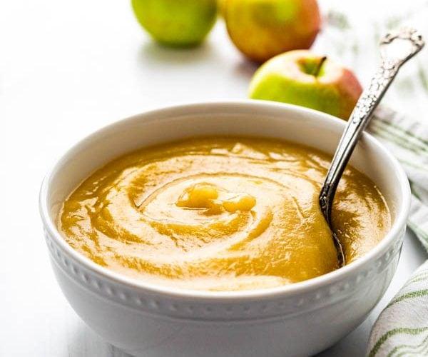 Homemade McIntosh Applesauce.