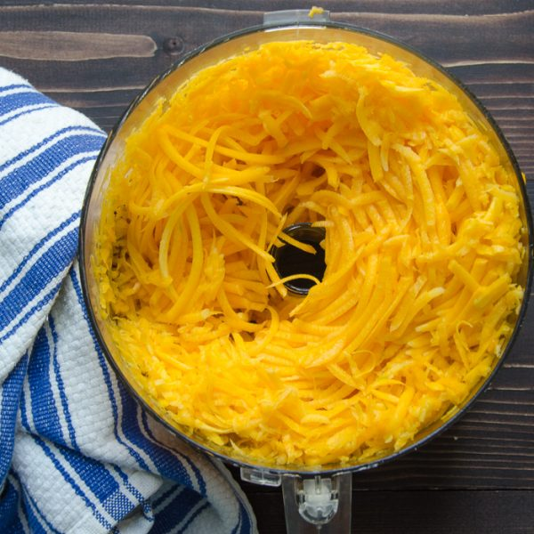butternut squash grated.