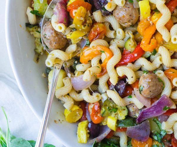 Italian Roasted Vegetable and Sausage Pasta
