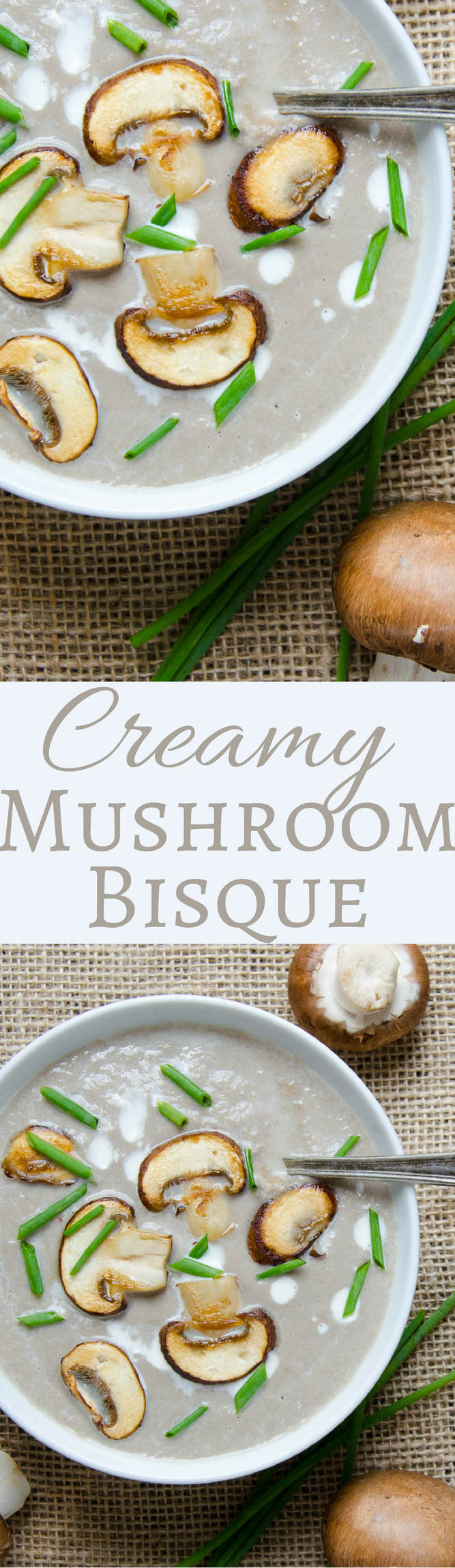 Who needs Campbell's?  Homemade cream of mushroom soup is way better!  This Creamy Mushroom Bisque is ready in under an hour!