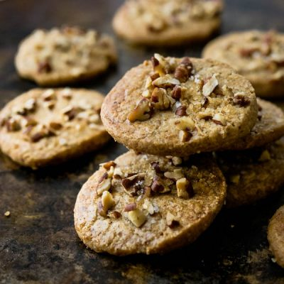 Toasted Butter Pecan Cookies with Sea Salt