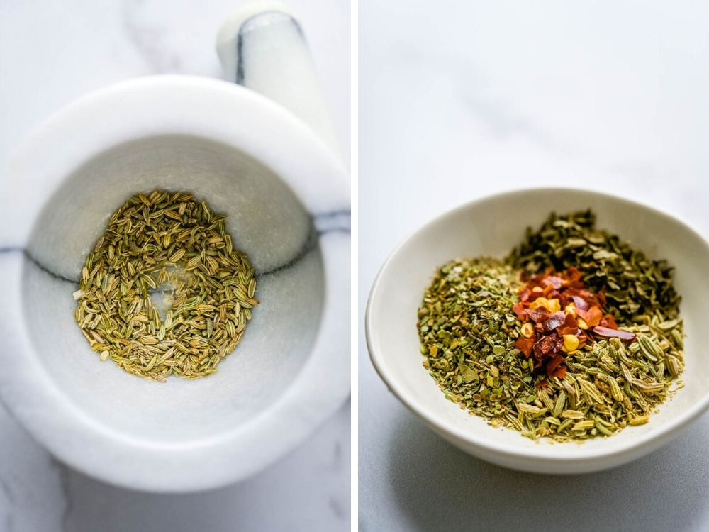 herb and spice blend for healthy minestrone soup.