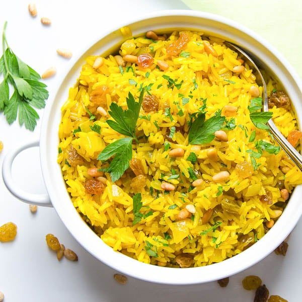 Jeweled Yellow Rice and Pignoli