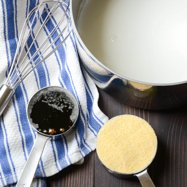 molasses and cornmeal with milk