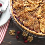 Apple Cranberry Walnut Tart | Garlic + Zest