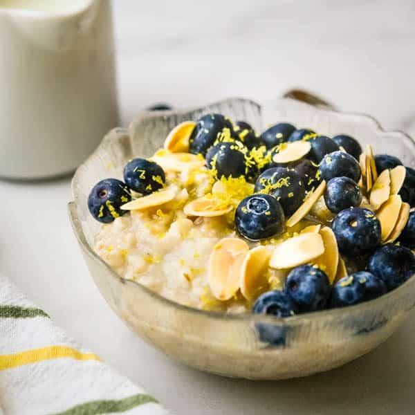 blueberry almond Irish Oatmeal