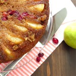 Pear and Cranberry Upside Down Cake | Garlic + Zest