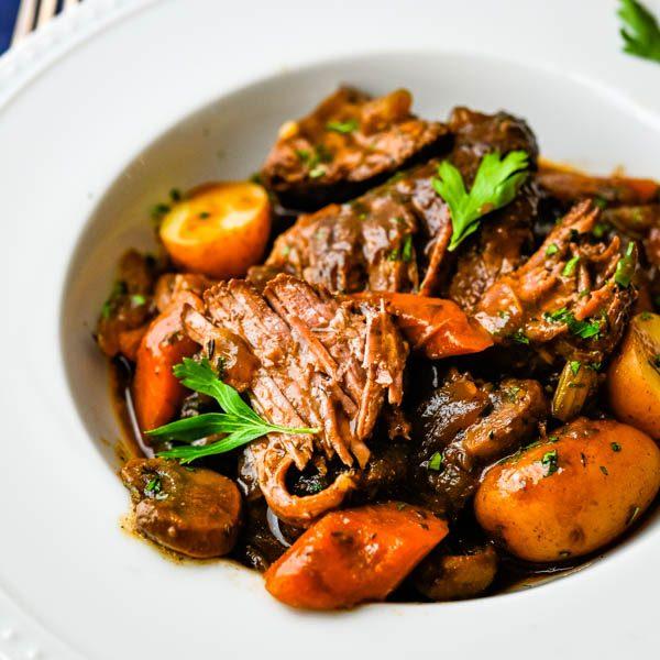 Dutch Oven Pot Roast with Porcini Sauce