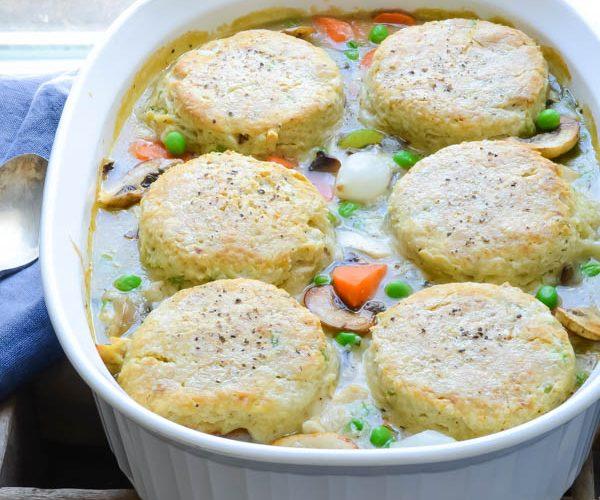 Turkey and Pepper-Biscuit Pot Pie