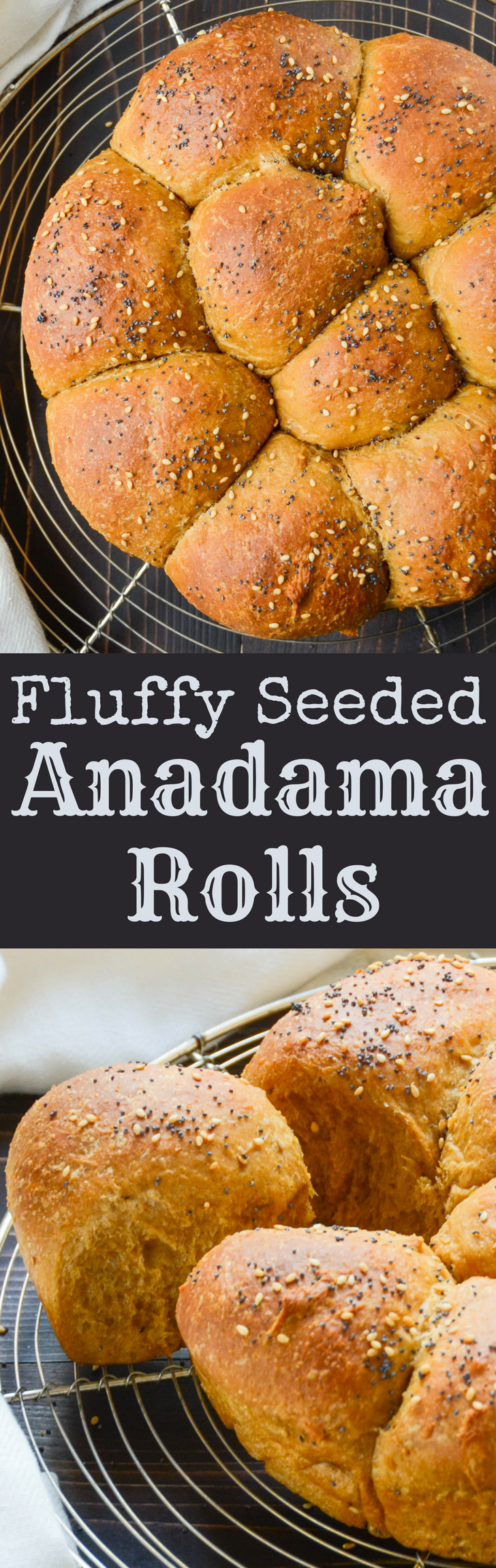 This easy yeast roll recipe feeds a crowd!  These soft, fluffy Anadama Rolls are great for sopping up gravy at your next holiday table. Makes 2 dozen rolls.