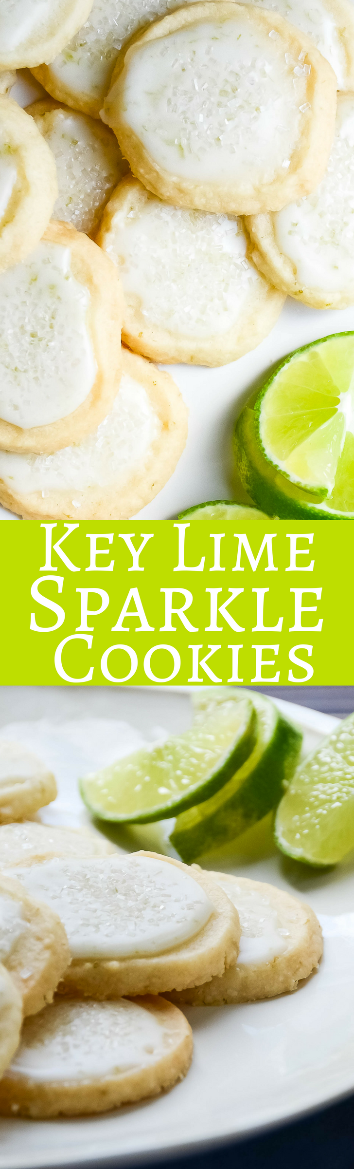 A light shortbread cookie with a hint of Key Lime and a sparkly glaze!  A taste of Florida Sunshine for the holidays or anytime!