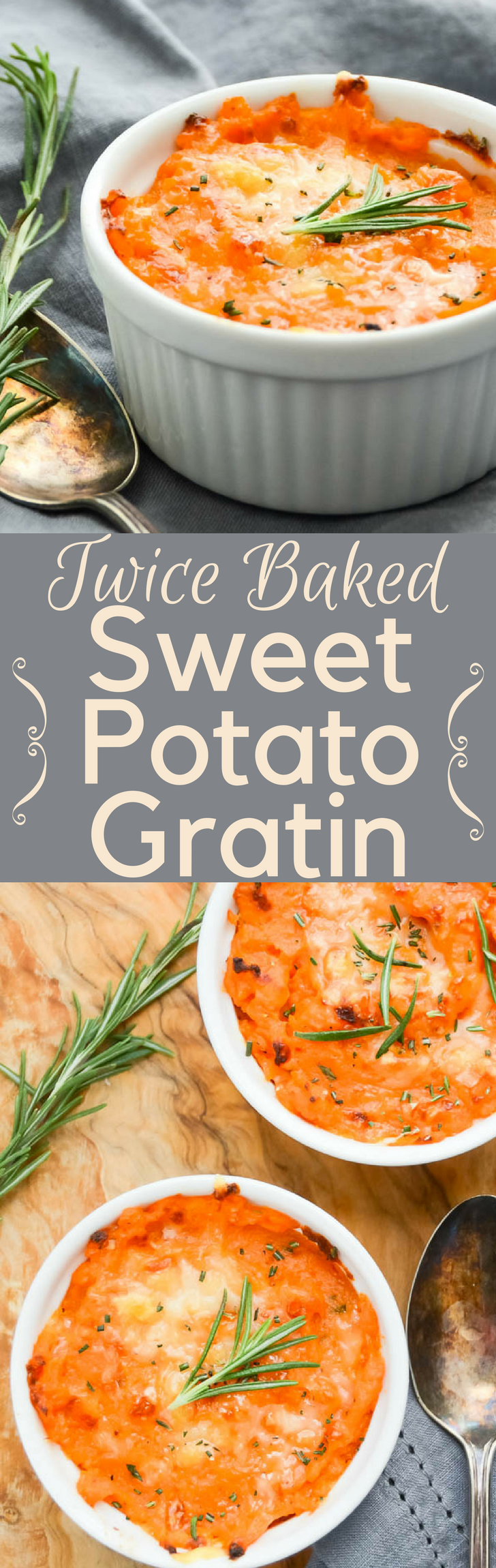 Looking for an alternative recipe for sweet potato casserole? Twice-Baked Sweet Potato Gratin is a delicious side dish w/ gruyere cheese. No marshmallows!