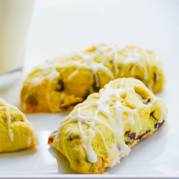 Cranberry Orange Pistachio Tea Cookies