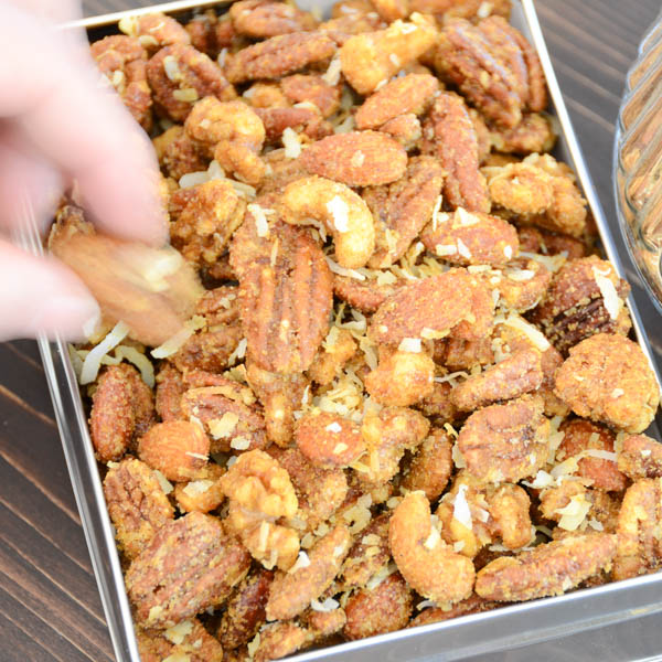 curried spiced cocktail nuts-8
