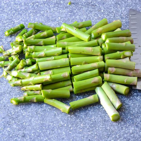 chopped asparagus
