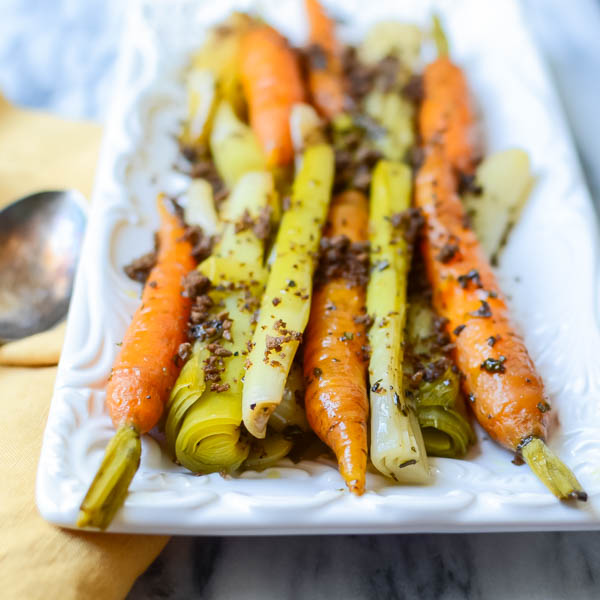 Braised Leeks and Carrots with Toasted Crumb | Garlic & Zest