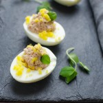 Deviled Ham Stuffed Eggs   Garlic + Zest
