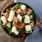 Sausage Kale and Sun Dried Tomato Gnocchi | Garlic + Zest