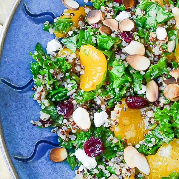 Mandarin Quinoa and Kale Bowl