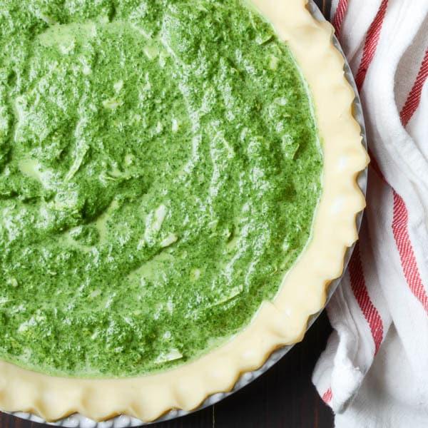 homemade spinach gruyere quiche | Garlic + Zest