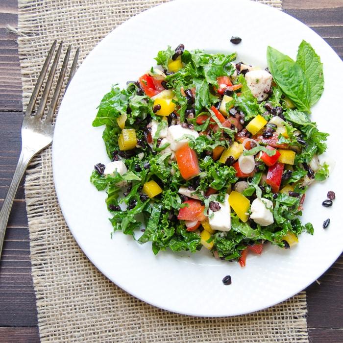 Tangy Italian Black Rice Salad   Garlic + Zest
