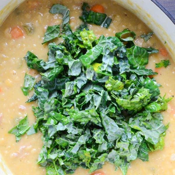 adding kale
